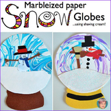 Winter Art Activity: Marbleized Paper Snow Globes (Video T