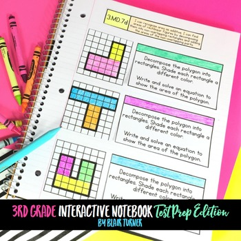 March Just Print Club: Interactive Notebook TEST PREP (3rd Grade Math)