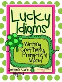 """March """"Lucky Idioms"""" Writing Craftivity,Prompts, & Bulleti"""