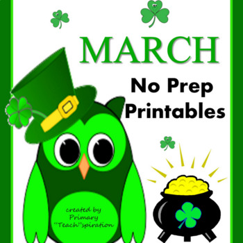 March Math and Literacy NO PREP Spring Printables for Common Core Skills