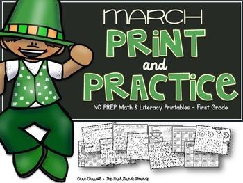 March Print & Practice Math & Literacy