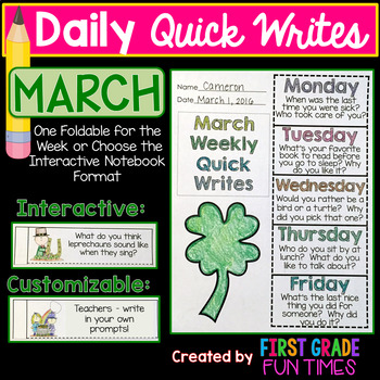 Writing March Quick Writes