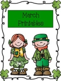 March Themed Printables- St. Patrick's Day Activities