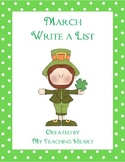 March Write a List