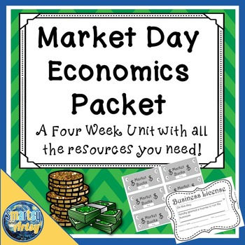 Market Day Economics Packet with Pacing Guide Templates Journal and More
