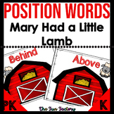 Position Words {Mary Had a Little Lamb} Includes Teaching