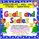 Goals and Picture Scales for Kindergarten {Math, Kid Friendly}