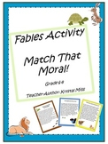 Match That Moral! Fables Activity For Middle School (Grade 6-8)