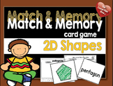 Match and Memory Card Game - 2D Shapes