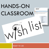 Outfitting the Hands-On Classroom: Editable Wishlist for y