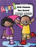 Math 1st Grade CC- No Prep Review, Practice, & Games: April
