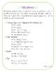 Math Activities for Measurement