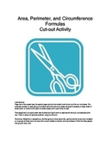 Math: Area, Perimeter, and Circumference Formulas Cut-out
