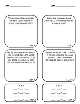 Math Assessment - 1.OA.1, 1.OA.2, 1.OA.3, 1.OA.4, 1.OA.5,