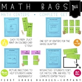 Math Bags for 1st Grade THE COMPLETE SET (30+ Common Core