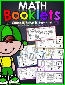 Math Booklets (Count it, Solve it, Paste it)