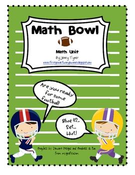 Math Bowl: First Grade Football Math Unit