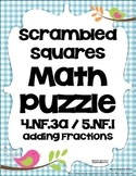 Math Center Game Common Core Aligned 5.NF.1 & 4.NF.3a - Ad
