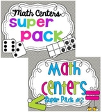 Math Center Super Packs 1 & 2 BUNDLE