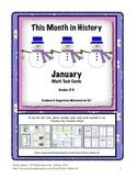Math Center Work Station: This Month in History January