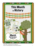 Math Center Work Station: This Month in History March