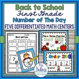 Math Centers First Grade Differentiated Number of the Day