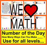 Math Centers:  How Many Ways? Variety of Levels