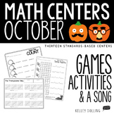 Math Centers - October (Common Core - 1st Grade)