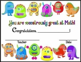 Math Certificate (Monsters)