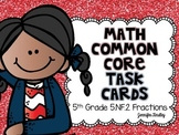 Math Common Core Task Cards 5th Grade CCSS 5.NF.2 Fractions