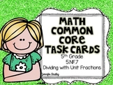 Math Common Core Task Cards 5th Grade CCSS 5.NF.7 Dividing
