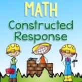 Math Constructed Response