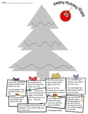 Math :  December Holiday Christmas Tree Glyph