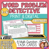 Word Problem Detective Task Cards: FREE!