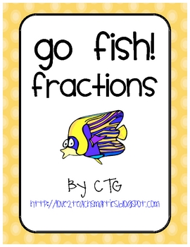Math Differentiated Go Fish Fractions Center