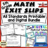 Math Exit Slips - 5th Grade