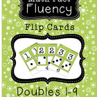 """Math Fact Fluency - Flip Cards for practicing """"doubles"""" 1-10"""