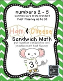 Math Fact Fluency - Sandwich Shop!