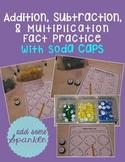 Math Fact Practice (Soda) Caps