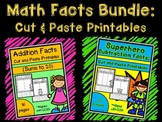 Math Facts Bundle: Cut and Paste Printables {Addition & Su