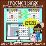 Math Fractions Games for Kids:  Bingo