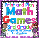 Math Games and Centers: 3rd Grade Print and Play, No Prep