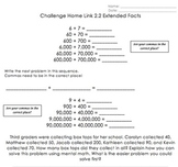 Math Homework Worksheets: Addition, Subtraction, Number St