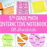 Math Interactive Student Notebook {5th Grade Common Core: