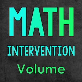 Math Intervention: Volume