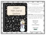 Math Journal Prompts-January
