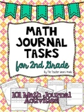 Math Journal Tasks for 2nd Grade