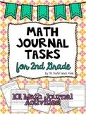 Math Journal Tasks for 2nd Grade