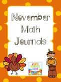 Math Journals for November