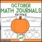 Math Journals for Pre-K: OCTOBER